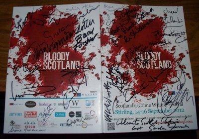 My 2012 Bloody Scotland program, signed by 24 amazing authors