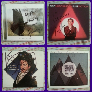 Clockwise: Passenger, Eric Hutchinson, King Charles, Joshua James