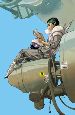 Saga, volume 2 - Alana reading
