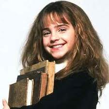 Hermione with books