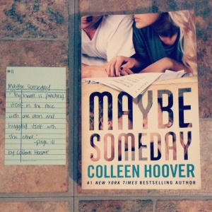 Maybe Someday - Book Memories