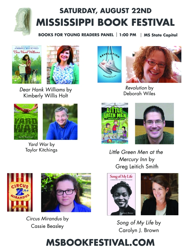 Books for Young Readers panel at the Mississippi Book Festival